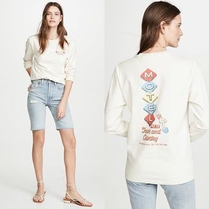 NWT Re/Done 90s Long Sleeve Motel Tee